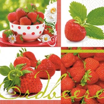 668624 - 4037698114654 - Graine créative - Serviette Taste of strawberries 20 pièces