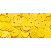 Sequins Jaune irisé Ø6 mm Lisses 6 g Lavable