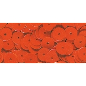Sequins Orange Ø 6 mm Lisses Boite 6 g Lavable